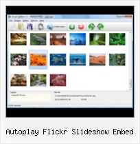 Autoplay Flickr Slideshow Embed Thumbnail Menu Flickr Css