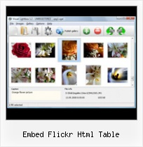 Embed Flickr Html Table Change Flickr Adress