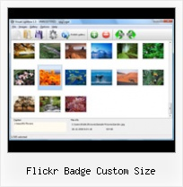 Flickr Badge Custom Size Flickr Uploader Demo