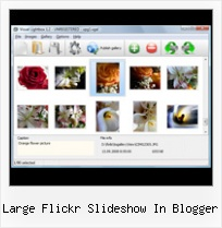 Large Flickr Slideshow In Blogger Add Flickr Collection To Blogger