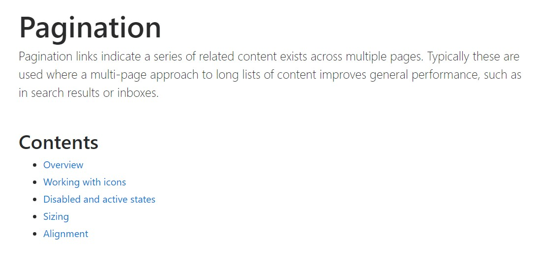 Bootstrap pagination official  information