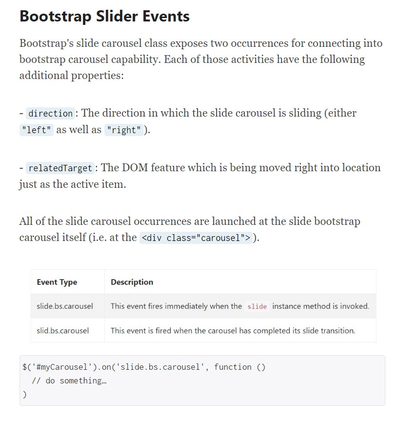 Bootstrap Slider Template