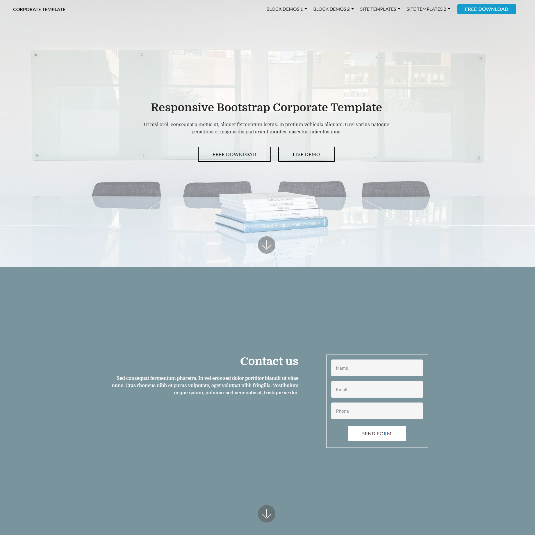 HTML5 Bootstrap Corporate Themes