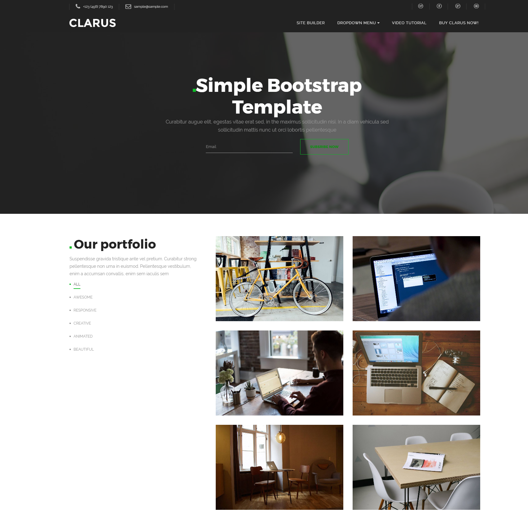 Free Bootstrap Simple Templates