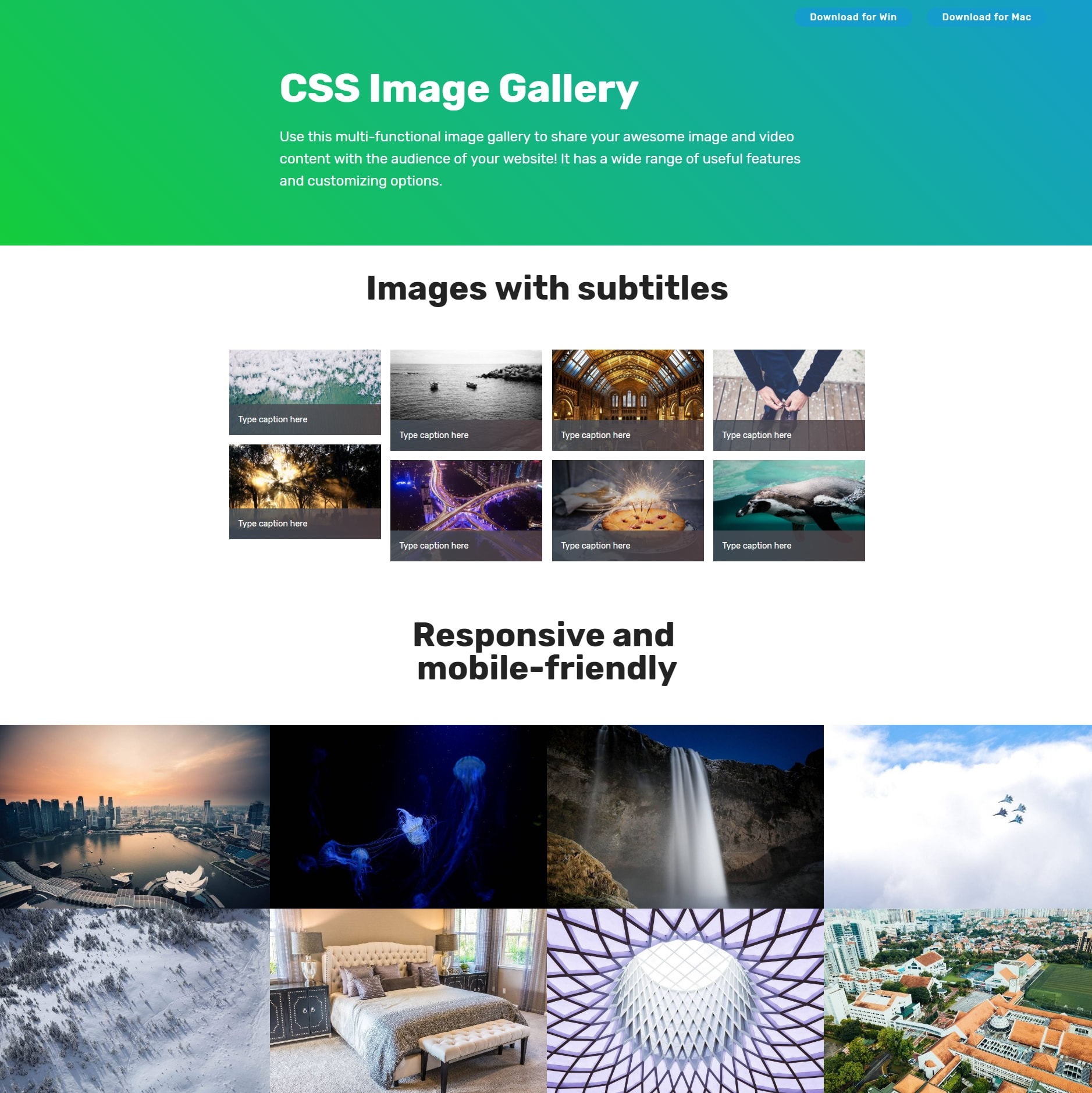CSS3 Bootstrap Image Gallery