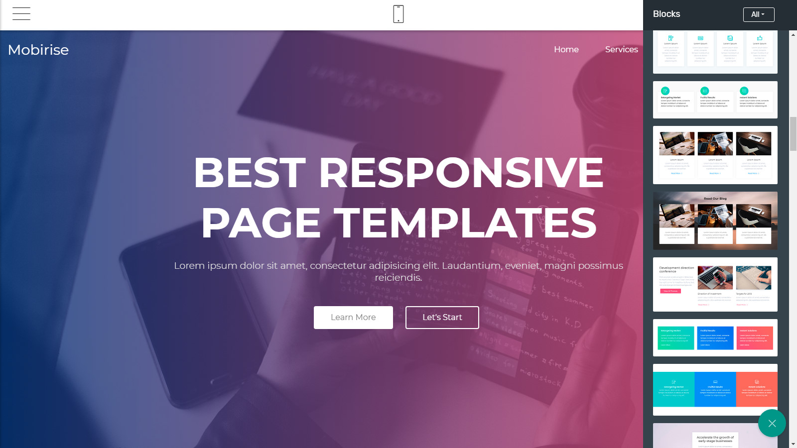 responsive page layouts