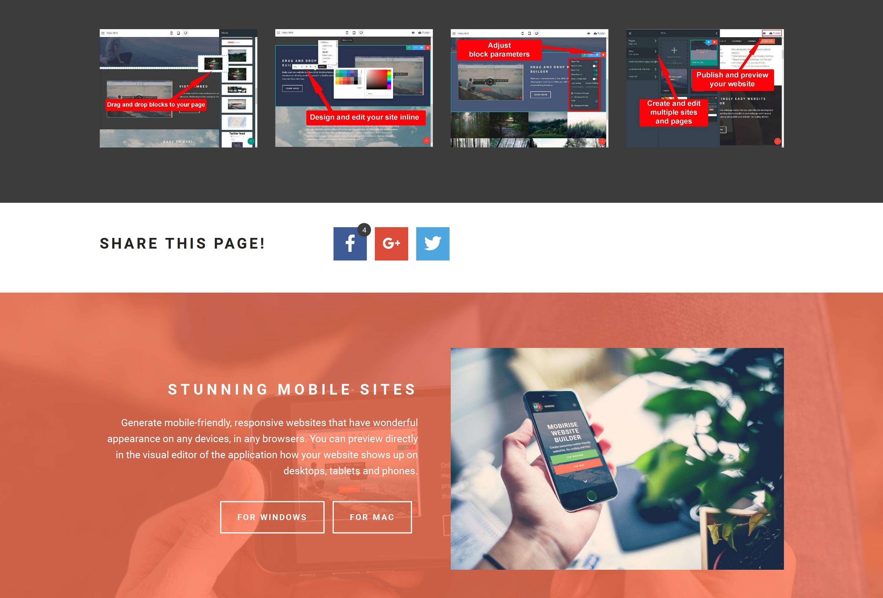 Quick Responsive Web Page  Creator