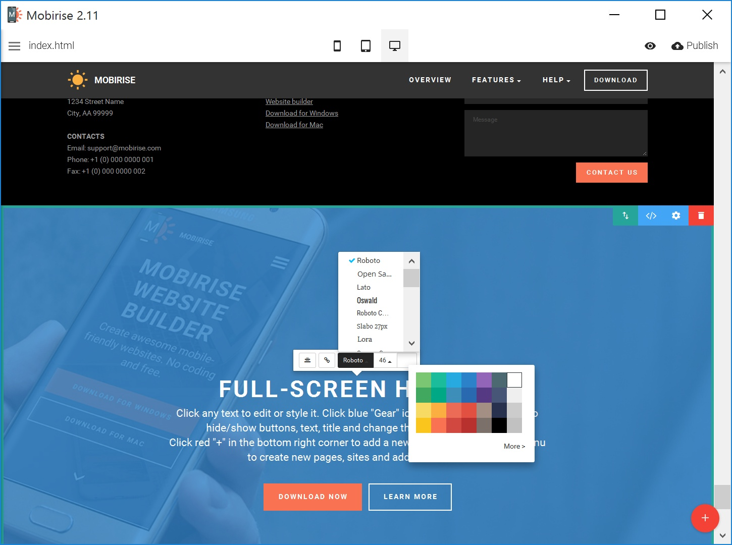 Simple WYSIWYG Web Page  Builder Review