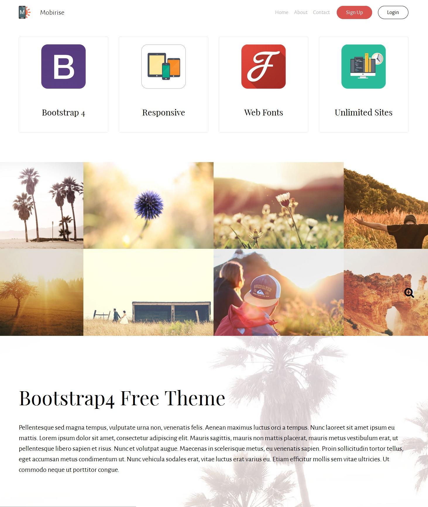 Free Bootstrap Portfolio Theme
