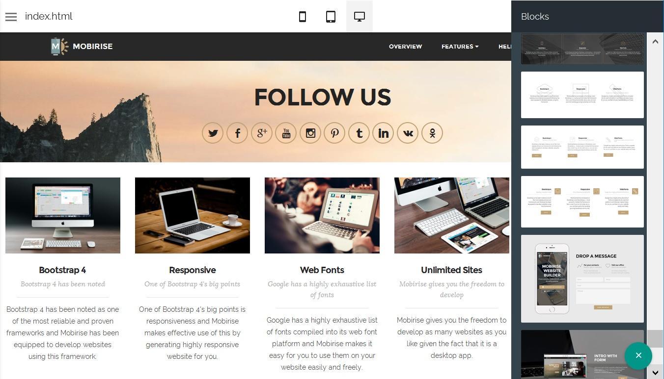 HTML Website Design Software
