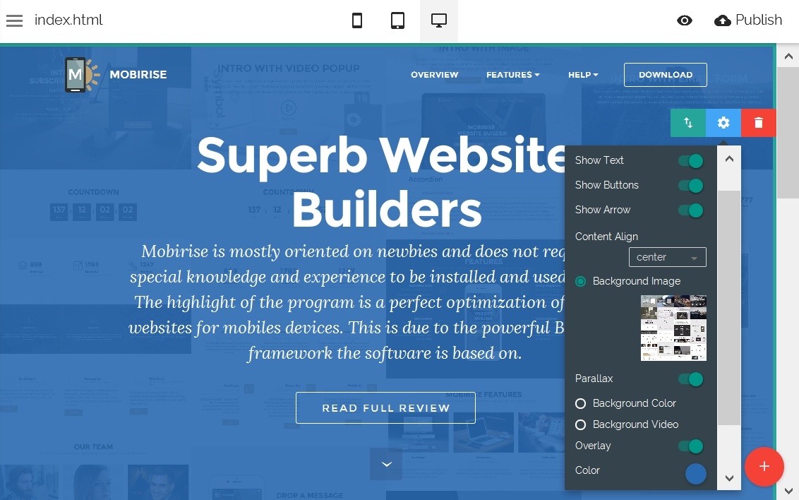 Easy Site Editor