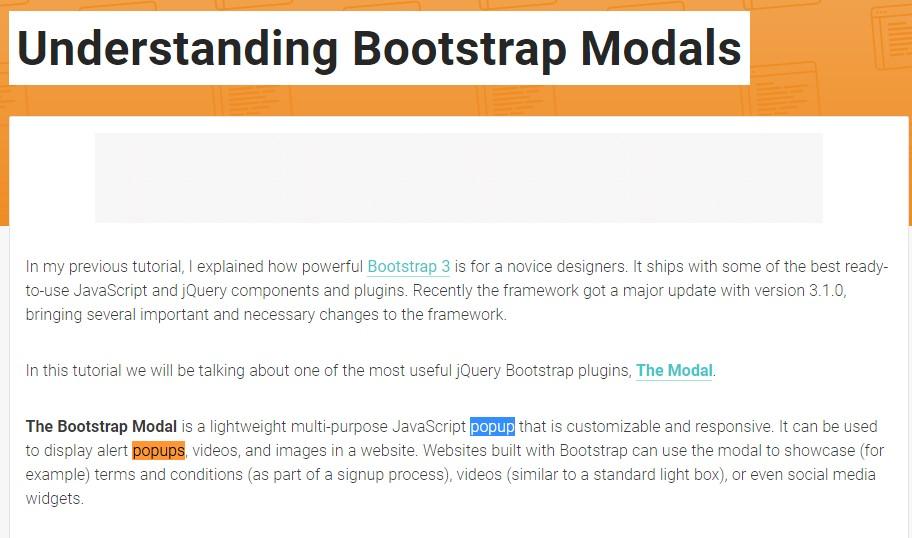 Yet another  handy  post  regarding Bootstrap Modal Popup