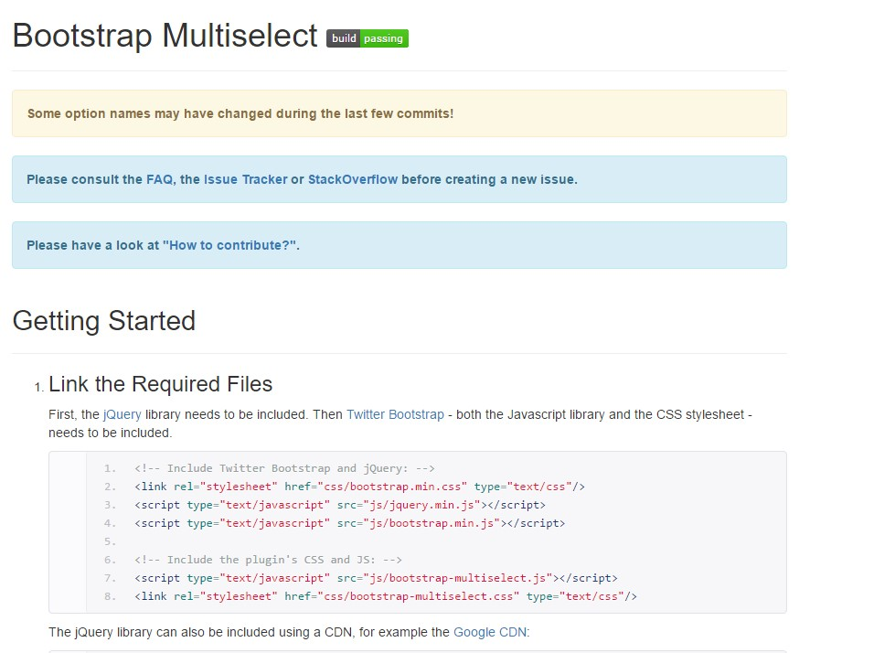Bootstrap multiple select  guide
