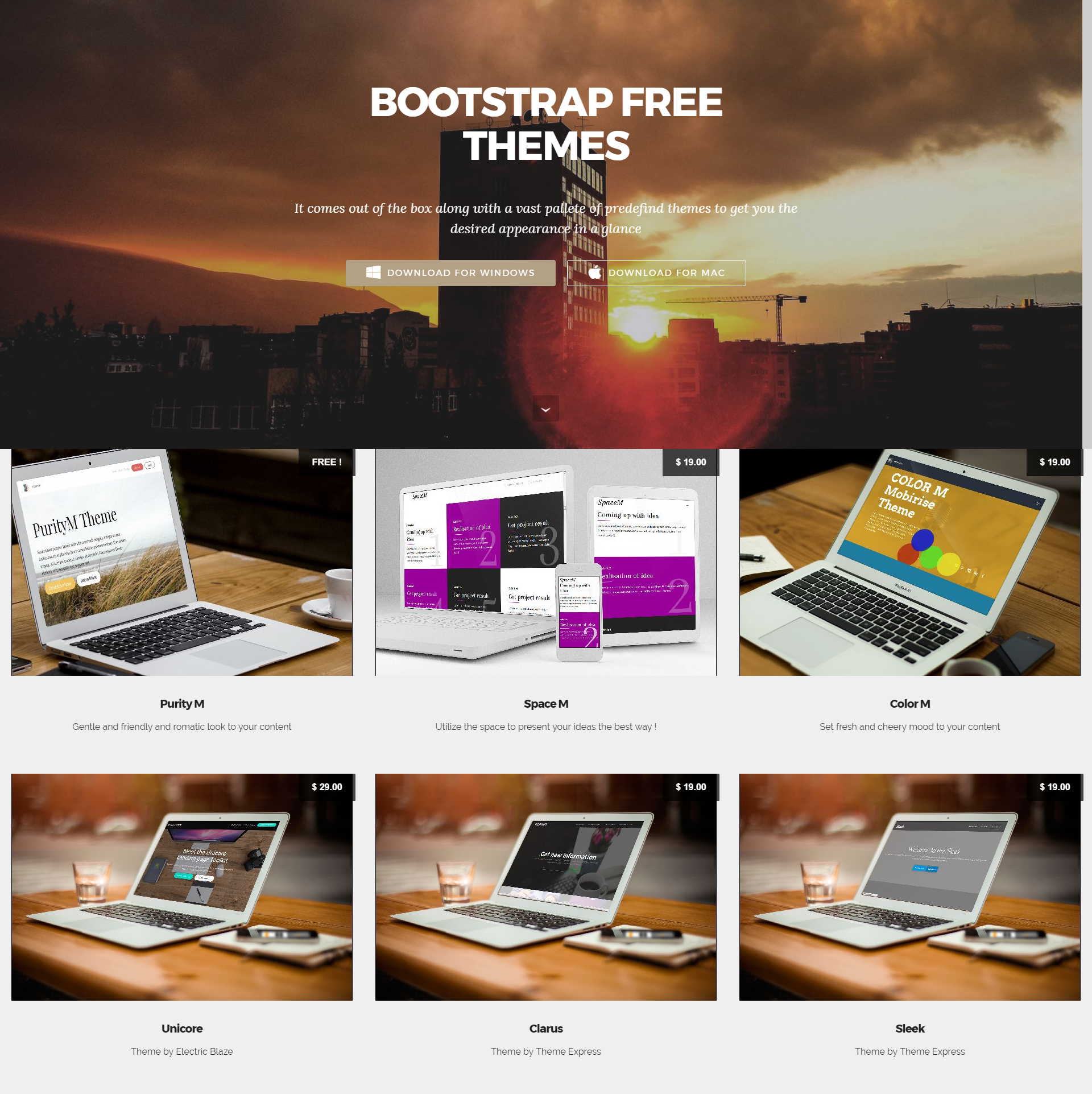 HTML Bootstrap Mobile-friendly Themes