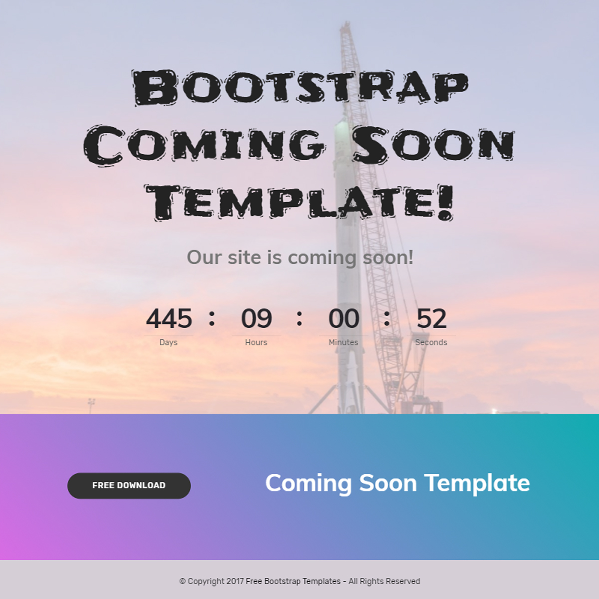 Free Bootstrap Coming Soon Templates