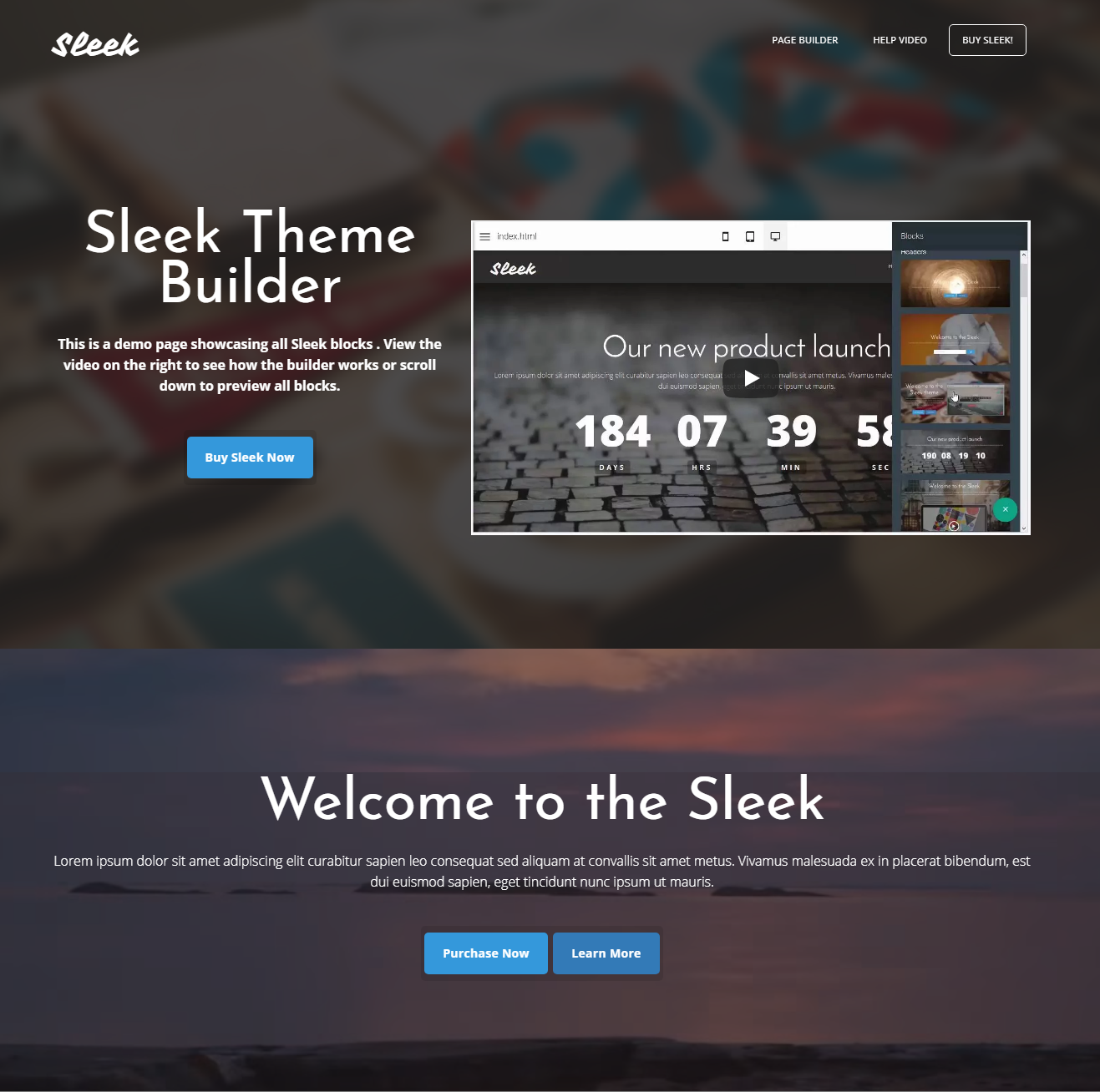 CSS3 Bootstrap Sleek Themes