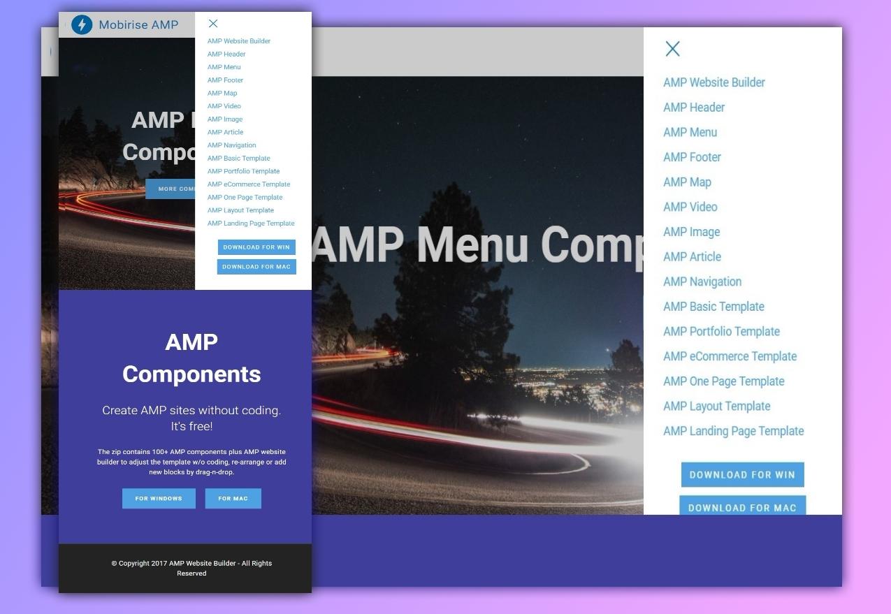 AMP Menu