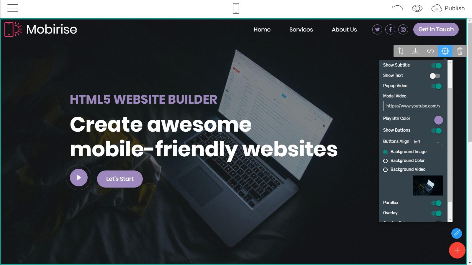 html5 page layouts